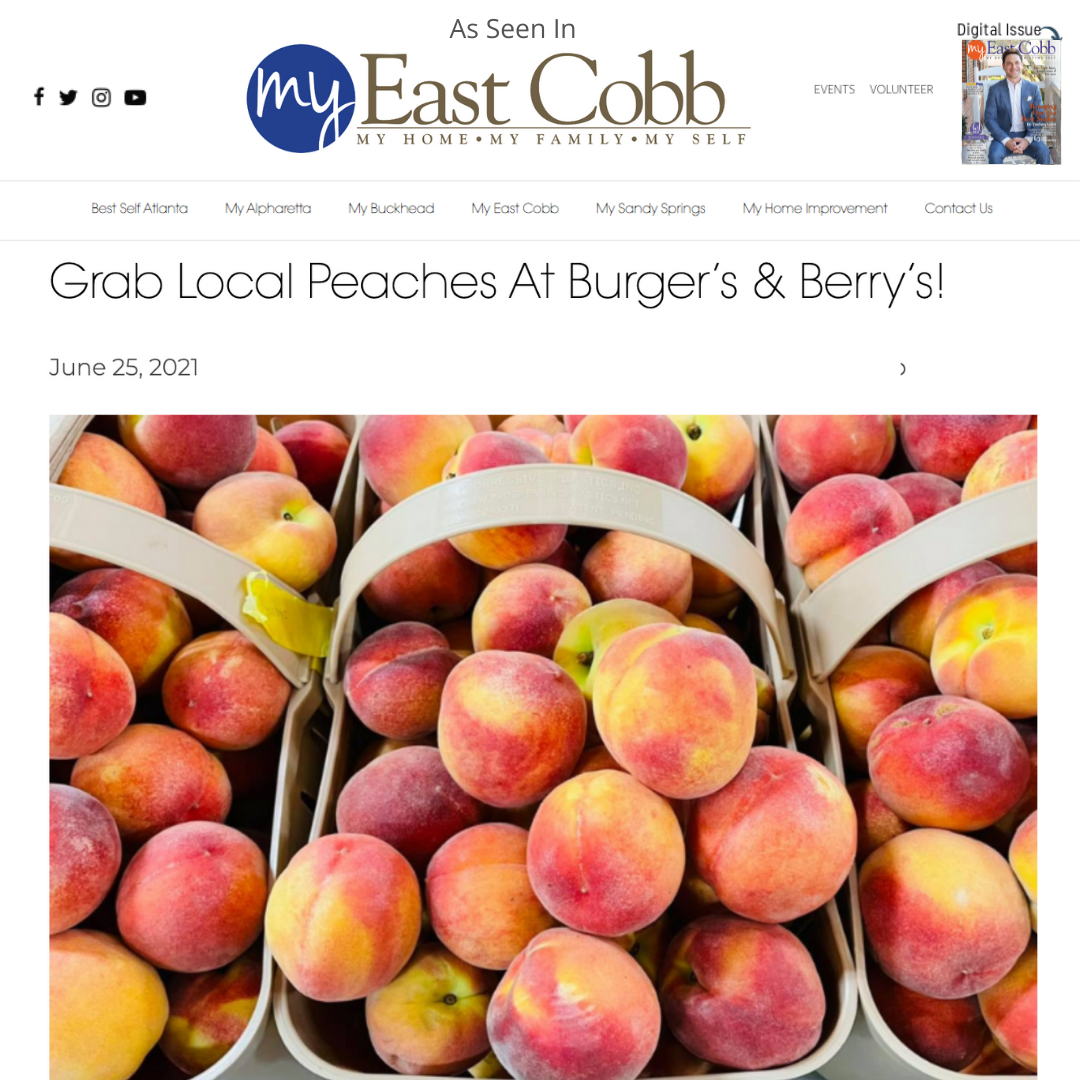 Burger's & Berry's Included in My East Cobb Magazine, July Issue!